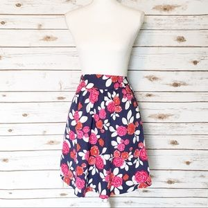 Modcloth Floral High Waisted Skirt